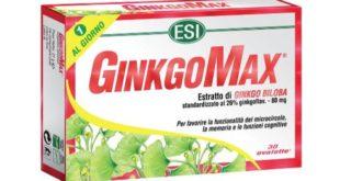 GinkgoMax®: generalità, uso, prezzo, controindicazioni ed effetti collaterali. GinkgoMax è un integratore alimentare naturale a base di Ginkgo Biloba, utile per favorire la circolazione, il mantenimento delle funzioni cognitive e per migliorare l'efficienza della memoria e la concentrazione.