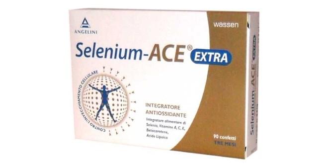 Selenium ACE Extra®: foglietto illustrativo, generalità, composizione, uso, prezzo, controindicazioni ed effetti collaterali. Selenium ACE Extra è un integratore antiossidante molto efficace contro l'azione nociva dei radicali liberi responsabili dell'invecchiamento cellulare.
