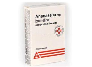 Ananase®: uso, prezzo, controindicazioni, effetti collaterali. Ananase® è un farmaco antinfiammatorio estratto dall'Ananas che contiene bromelina, con azione antinfiammatoria ed antiedemigena, particolarmente utile per ridurre i tempi di guarigione da interventi dentistici e chirurgici.