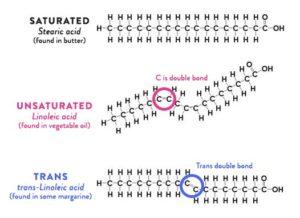 Struttura molecolare dei grassi saturi , insaturi , trans e cis