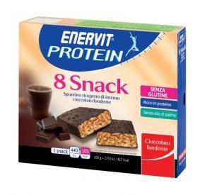 Enervit Protein Snack , spuntino ricoperto di cioccolato fondente