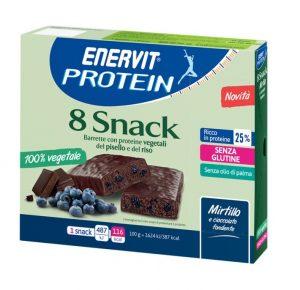Enervit Protein Snack , al mirtillo e cioccolato con proteine vegetali del pisello e del riso